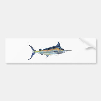 pintura de los pescados de la aguja azul etiqueta de parachoque