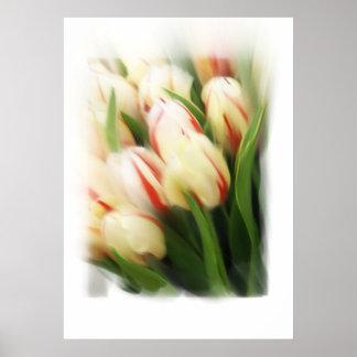 """Pintura de los """"tulipanes"""" en lona póster"""