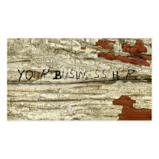 Pintura de madera de la peladura del vintage de la tarjetas de visita