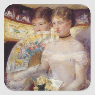 Pintura de Mary Cassatt Pegatina Cuadrada
