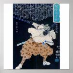 Pintura de Miyamoto Musashi circa 1800's Poster