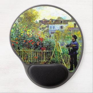 Pintura de Monet en su jardín en Argenteuil Alfombrilla Gel