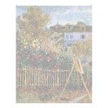 Pintura de Monet en su jardín en Argenteuil Membrete A Diseño