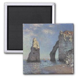 Pintura de Monet Imán Cuadrado