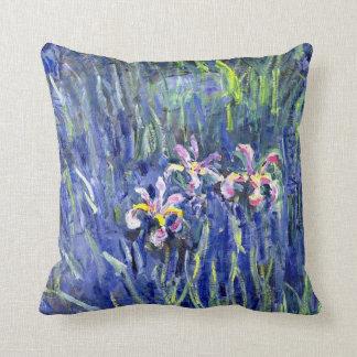 Pintura de Monet - iris 2 Cojín