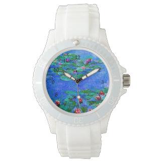 Pintura de Monet: Lirios de agua, ilustraciones Relojes