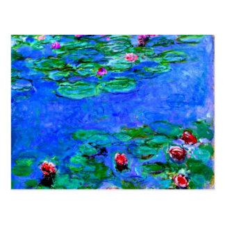Pintura de Monet: Lirios de agua Tarjeta Postal