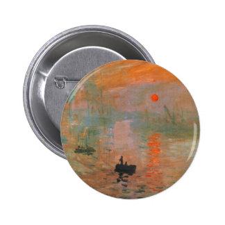 Pintura de Monet Pin Redondo De 2 Pulgadas
