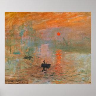 Pintura de Monet Póster