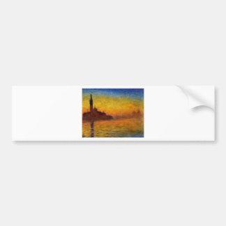 Pintura de Monet: Salida del sol de Monet Pegatina Para Auto