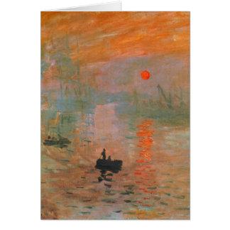 Pintura de Monet Tarjeta De Felicitación