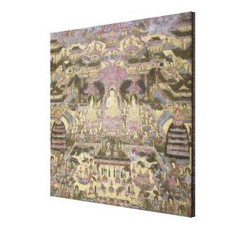 Pintura de mundos espirituales y materiales impresion en lona