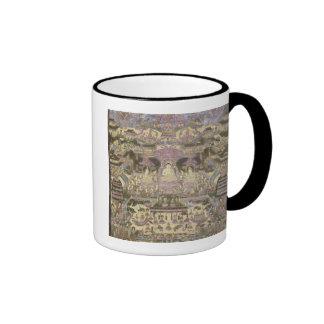 Pintura de mundos espirituales y materiales taza de café