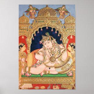 Pintura de Navaneeta Krishna Posters