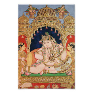Pintura de Navaneeta Krishna Póster