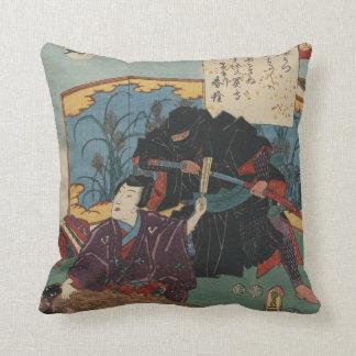 Pintura de Ninja circa 1853 Cojines