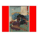 Pintura de Ninja circa Japón 1853 Tarjetas Postales