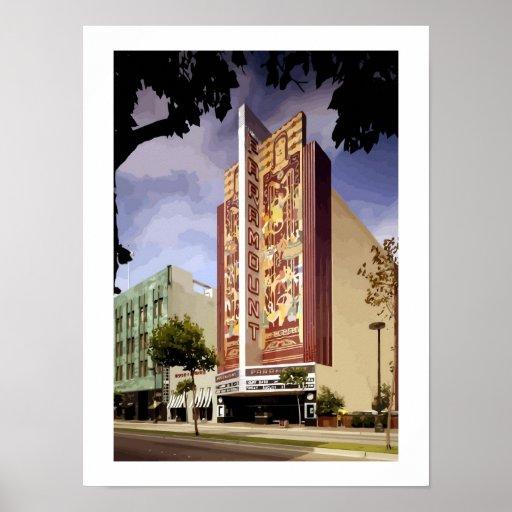 Pintura de Oakland del teatro de Paramount del art Poster