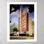 Pintura de Oakland del teatro de Paramount del art Póster