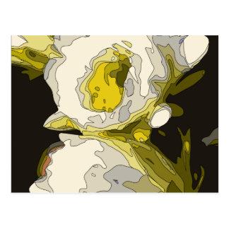Pintura de oro de la flor de la charca del lirio postales