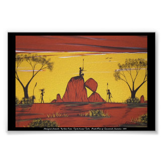 Pintura de paisaje aborigen por la cañada Evans Impresiones