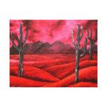 pintura de paisaje abstracta al sudoeste roja lona estirada galerías