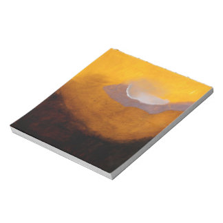 Pintura de paisaje abstracta con la nube bloc de papel