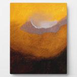Pintura de paisaje abstracta con la nube placas