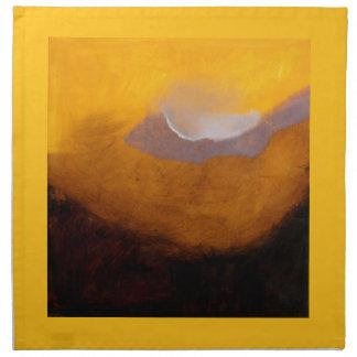 Pintura de paisaje abstracta con la nube servilletas imprimidas