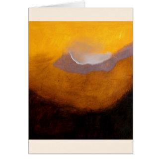 Pintura de paisaje abstracta con la nube tarjeta pequeña
