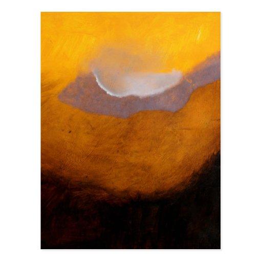 Pintura de paisaje abstracta con la nube tarjeta postal