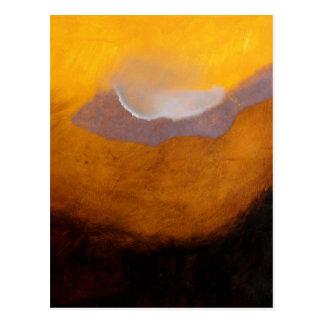 Pintura de paisaje abstracta con la nube tarjetas postales