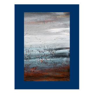 "Pintura de paisaje abstracta de la ""inferencia"" postales"