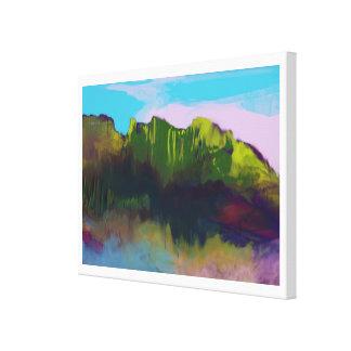 pintura de paisaje agradable impresiones de lienzo