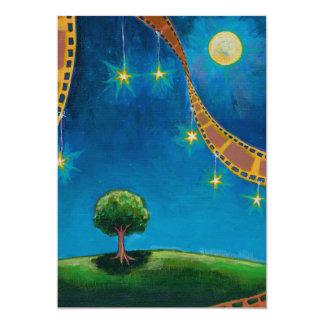 """Pintura de paisaje de la diversión del arte de la invitación 5"""" x 7"""""""