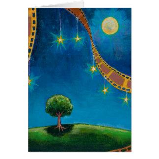 Pintura de paisaje de la diversión del arte de la tarjeta de felicitación