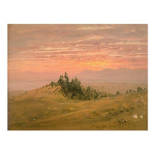 Pintura de paisaje de la iglesia de Friedrich Tarjeta Postal
