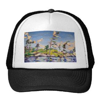 Pintura de paisaje de la isla gorras