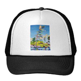 Pintura de paisaje de la isla gorra
