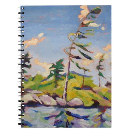 Pintura de paisaje de la isla libretas