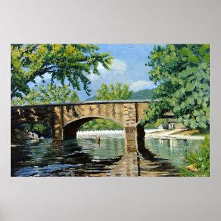 Pintura de paisaje de las primaveras de Bennett de Poster
