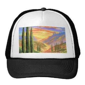 Pintura de paisaje de Toscana - multi Gorros