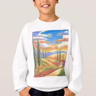 Pintura de paisaje de Toscana - multi Sudadera