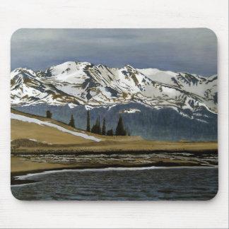 Pintura de paisaje del aceite de la mina de la nub tapetes de raton
