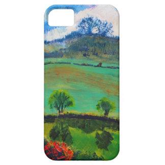 Pintura de paisaje del campo de Devon Inglaterra Funda Para iPhone 5 Barely There