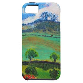 Pintura de paisaje del campo de Devon Inglaterra iPhone 5 Carcasa