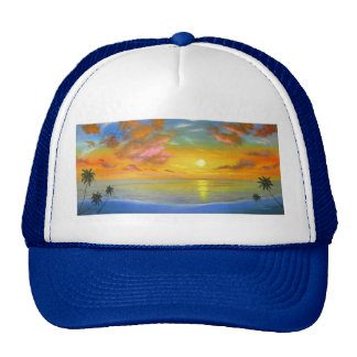 Pintura de paisaje del paisaje marino de la opinió gorras de camionero