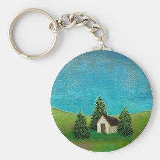 Pintura de paisaje pacífica del arte pionero de la llaveros