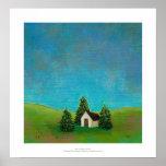 Pintura de paisaje pacífica del arte pionero de la impresiones