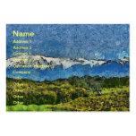 Pintura de paisaje tarjetas de visita grandes